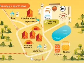Pasaulio lietuvių jaunimo susitikimas 2014 – žemėlapiai